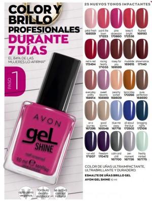 Esmalte de uñas brillo en Gel Shine Avon